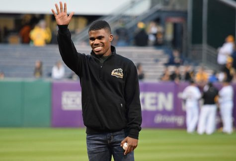 USG President throws out first pitch at Pirates game