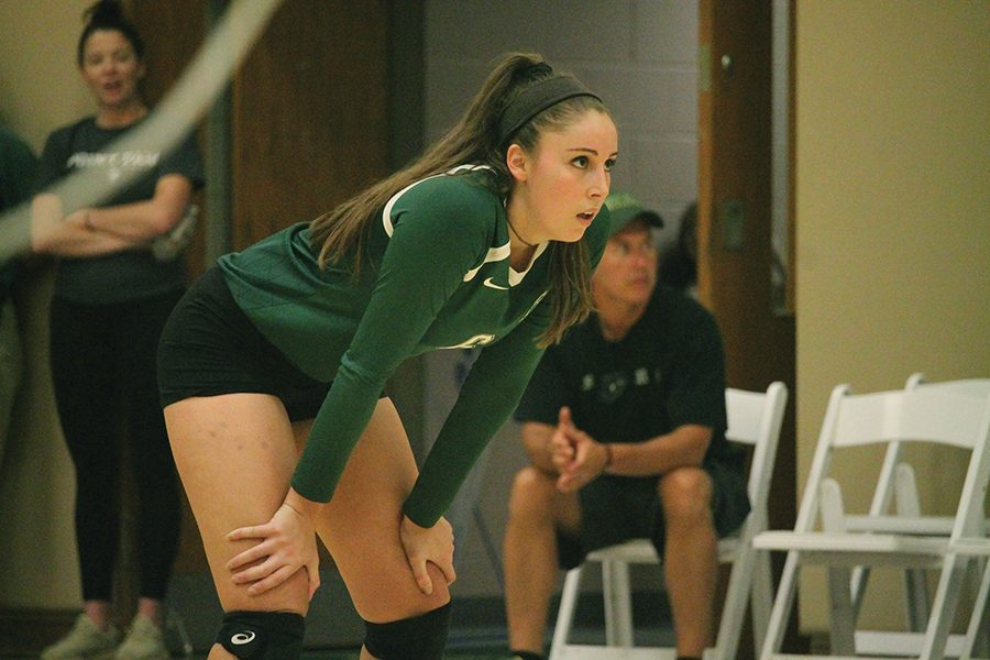 Senior+outside+hitter+Shiloh+Simonson+recorded+her+1%2C000th+career+kill+with+the+Point+Park+volleyball+team+last+Friday+against+Indiana+University+East.+Simonson+is+just+the+fifth+player+in+Point+Park+volleyball+history+since+1991+to+register+1%2C000+kills.+