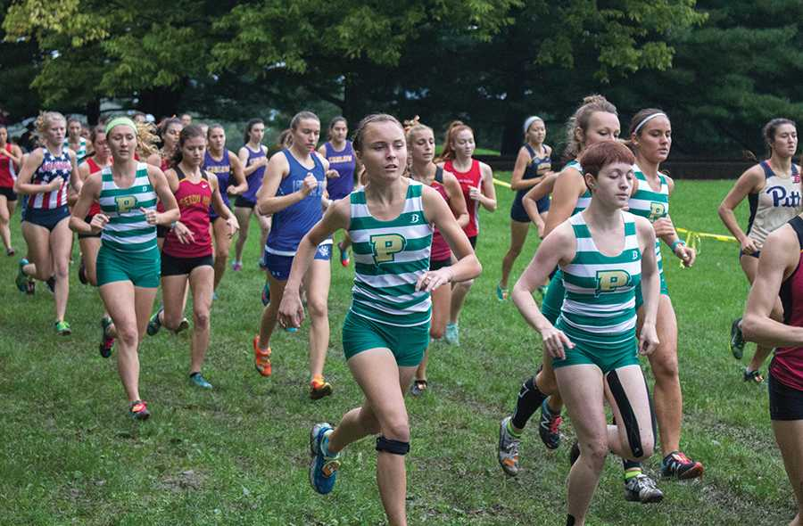 The women's cross country team ran in the CMU Invitational on October 8 where they placed fifth of 14 teams.