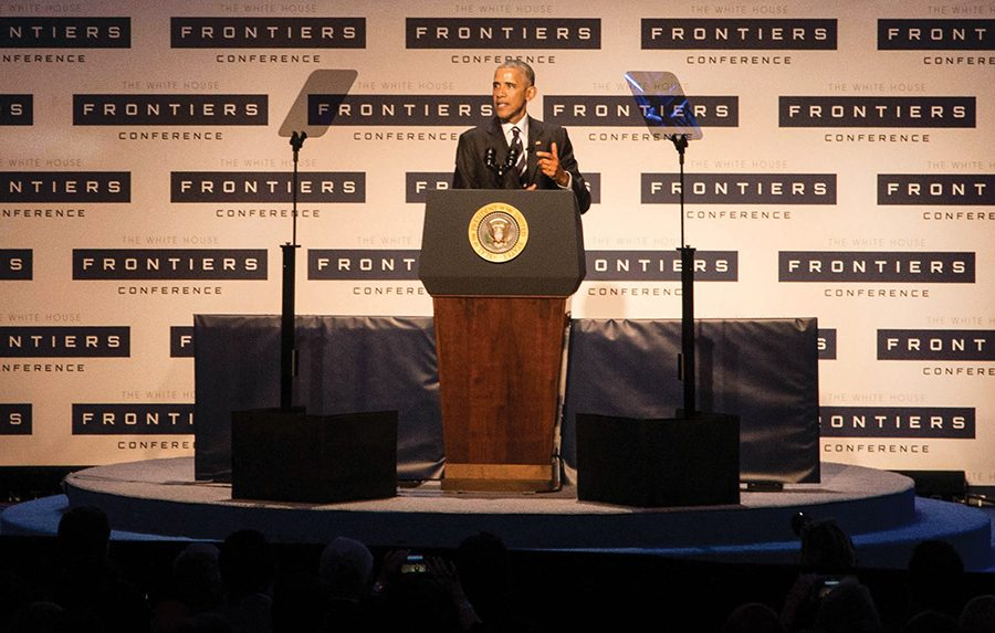 President+Barack+Obama+hosted+the+White+House+Frontiers+Conference+last+Thursday+in+Pittsburgh+at+the+University+of+Pittsburgh+and+Carnegie+Mellon+University.