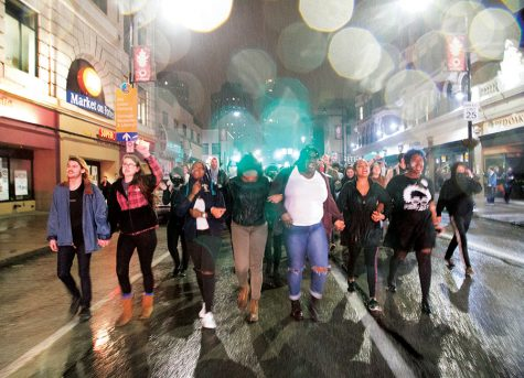 Anti-Trump protests erupt throughout city