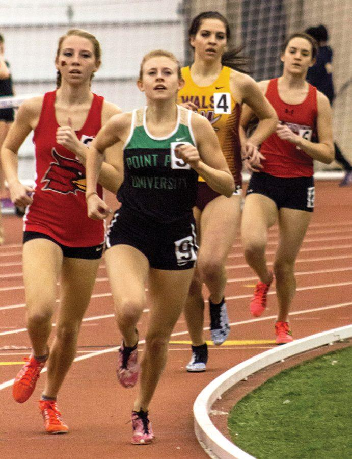 Katie+Guarnaccia+competes+at+the+2016+SPIRE+Invitational+on+Feb.+6+in+Geneva%2C+Ohio.+The+junior+distance+runner+hopes+to+return+to+the+NAIA+Indoor+National+Championships+this+season.