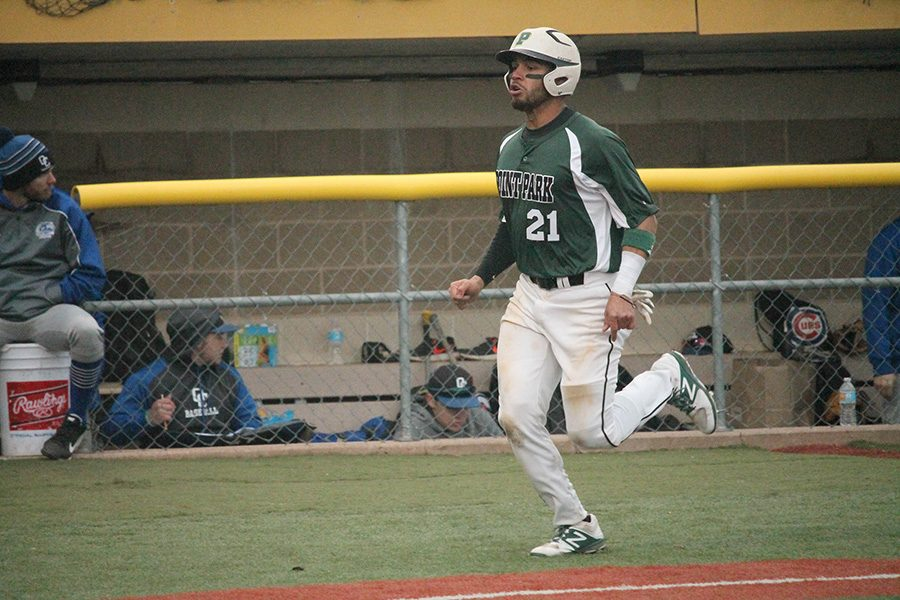 Edberg+Dominguez+bats+Saturday+against+Ohio+Christian+University.+He+is+hitting+.338+through+his+first+24+games+with+24+RBIs+and+one+home+run.+The+Venezuelan+is+playing+right+field+for+the+Pioneers+in+his+junior+season+with+Point+Park.