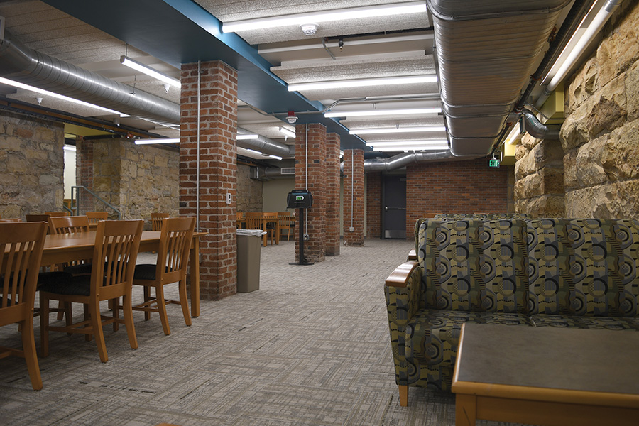 The new library addition where the former restaurant, Cassen's, was located.