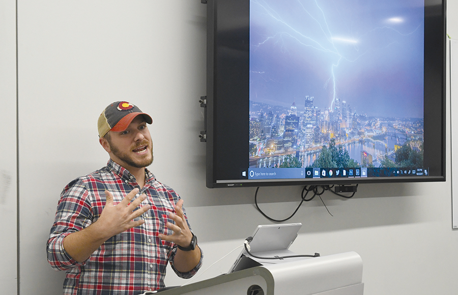 Dave DiCello, a local Pittsburgh Photographer known for his skyline photos, visited the CMI last Wednesday to talk about his rise and success as a local photographer