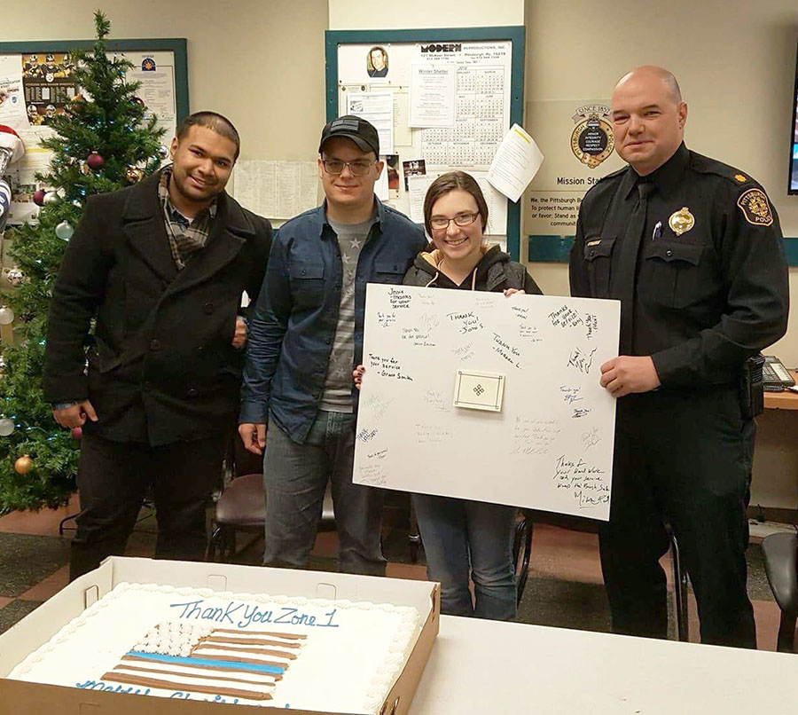 The Criminal Justice Club delivered cakes to local police departments.