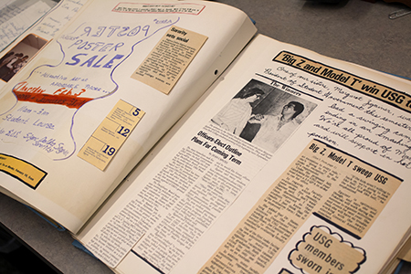 Sigma Delta Sigma is one of the most well-documented sororities in the university archives. The organization put together an annual scrapbook highlighting the year's activities and its members.