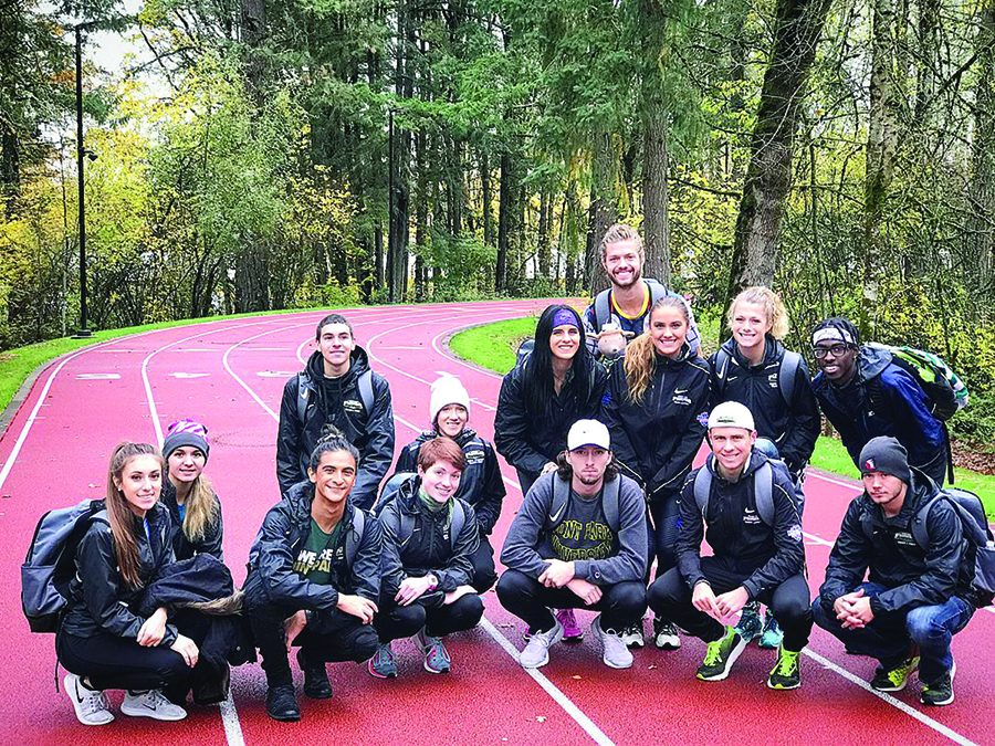 The+cross+country+teams+trained+at+NIKE+Headquarters+ahead+of+the+2017+NAIA+Cross+Country+Championships.