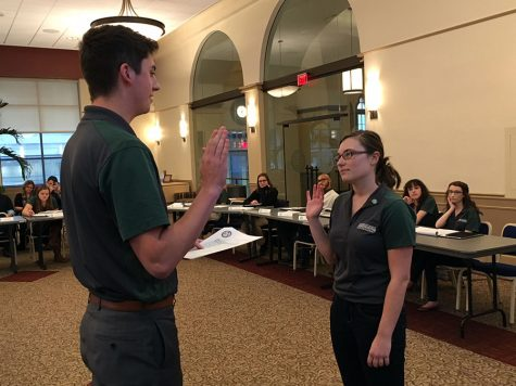 Student government swears in new vice president, senators-at-large
