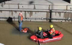 Man rescued on flooded parkway