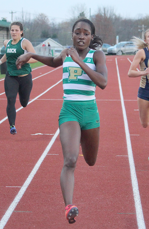 Senior Olukemi Olugbakinro highlighted the women's sprints with a first-place finish in the 200 meter dash and third-place finish in the 100 meter dash at the Cal U Early Bird Invitational last Saturday.