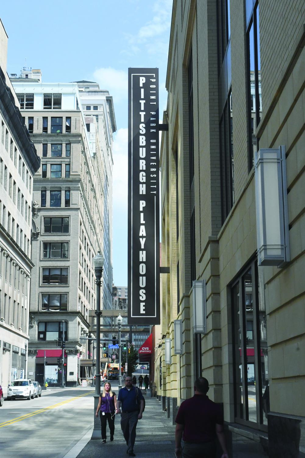 The+sign+for+the+new+Pittsburgh+Playhouse+is+unveiled.+The+space+has+now+unofficially+opened.+