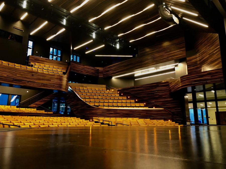 The PNC Theatre glows in the new Pittsburgh Playhouse. The space has unofficially opened its doors, and classes are taking place inside this semester. A gala event is set to transpire in honor of the formal opening.