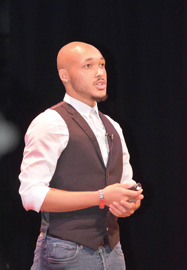 Senior Kristopher Chandler delivers a TEDx talk on maintaining mental health in college, and how art is an outlet for expression.