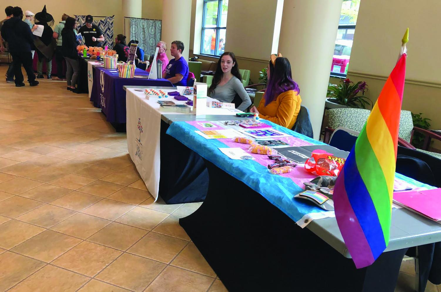 The LGBTQ+ Resource Fair was held last Wednesday in the Lawerence Hall Lobby. Organizations such as GSSA Point Park, Planned Parenthood and Pittsburgh Action Against Rape were some of the vendors present.