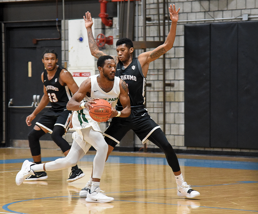 Senior guard Justice Cuthbertson finished Saturday's game against IU Kokomo with 19 points and a game winning layup with two seconds left. 17 of his points were scored in the second half.