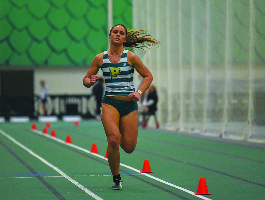 Senior Taylor Celich competes in the RSC Conference Championship last month. Celich competed this past weekend in the 800 meter dash and placed 16th in 2 minutes, 32 seconds.