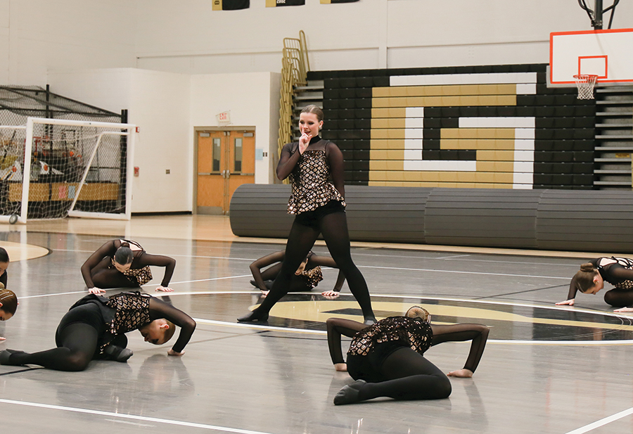 The competitive dance team competes at the inaugural Pioneer Showcase at Gateway High School last month. This past weekend, the Pioneer Cheer and Dance Teams competed in Sienna Heights. Both teams walked away victorious and the cheer team scored a season high 79.33 while dueling Siena Heights.
