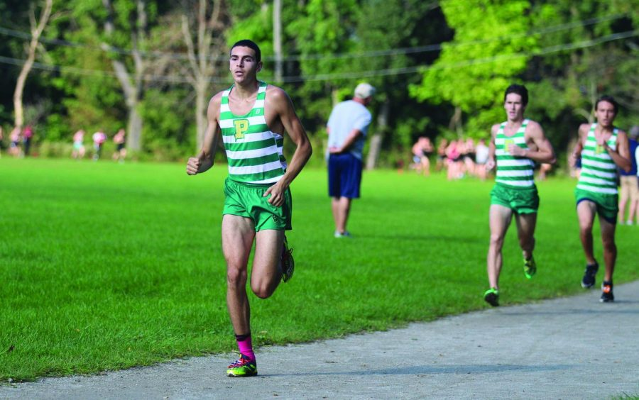 Junior Xavier Stephens competes at Schenley Park in the Carnegie Mellon Invitational during this past cross country season. Stephens is about to enter his third outdoor season as a Pioneer and is hopeful of another championship.