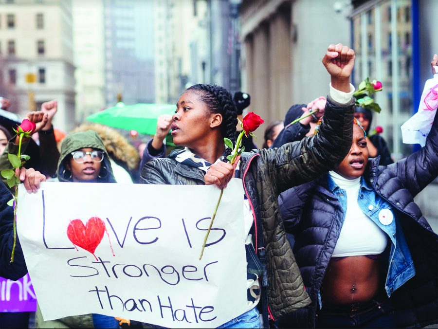 Following the aquittal of Michael Rosfeld, students gathered in front of the City-County Building on Monday, March 25 to demand justice for the late Antwon Rose II.