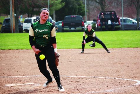 Softball splits RSC contests