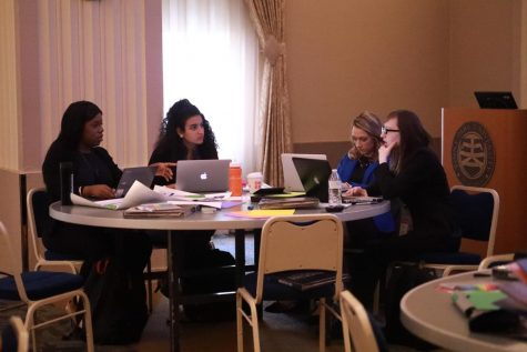 (From left to right) Divine Kennedy, Sabrina Tatalias, Kayla Snyder and Brianna Farrand participated in the America250PA Direct Effect Innovation Challenge Regional Round on Friday, Oct. 25 at the university. America250PA is a six-year, state-wide celebration of the country's 250 th birthday which will be in 2026.