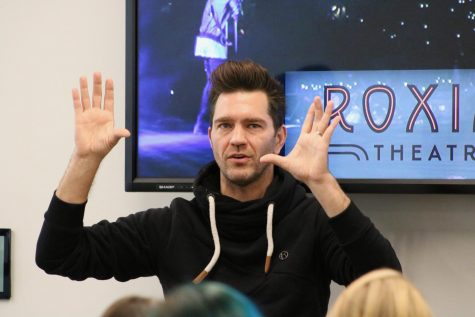 Andy Grammer visited the Center for Media Innovation on Friday, Oct. 25 for a near hour-long Q & A session ahead of his concert that night at the Roxian Theater. Grammer discussed how to connect with individuals through music and performing and make the listener feel what the performer feels. The event was recorded and can be found on both Grammer's and the CMI's Facebook pages.