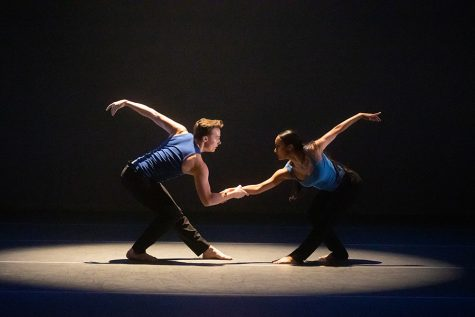 "Bailey Eland and Shalece Heugas in ""The Paradigm of Us"" choreographed by Sydney Jones."