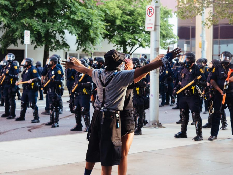 A peaceful protest in the wake of George Floyd, who was killed while in Minneapolis police custody, ended abruptly when Pittsburgh police fired rubber bullets and tear gas at protesters on Centre Avenue on Monday, June 1, 2020.