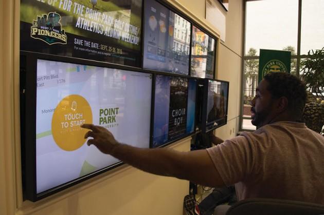 University reveals new digital signage