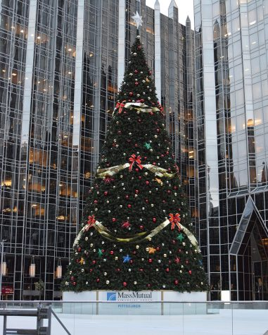 PPG Place tree and ice rink ready for Light Up Night