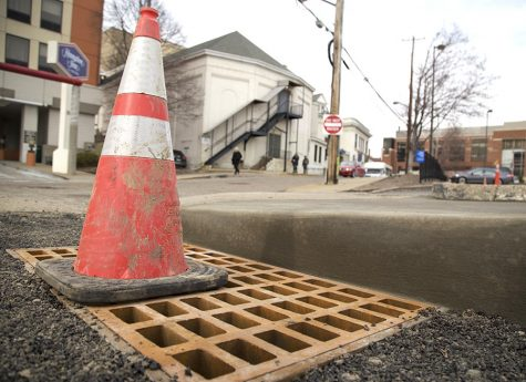 Sinkhole repaired outside of Playhouse