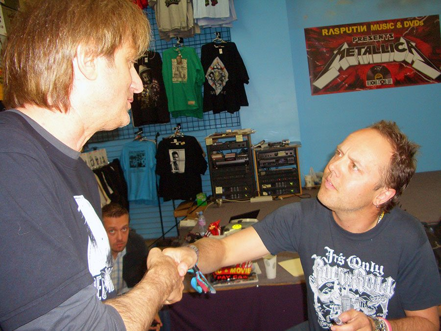 Record+Store+Day+gave+its+co-founder+Michael+Kurtz+the+opportunity+to+meet+famous+musicians%2C+such+as+the+members+of+Metallica%2C+including+James+Hetfield+seen+here.