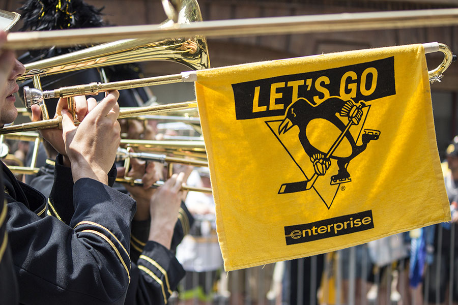 Fans line the streets of Pittsburgh during the Stanley Cup Parade on  Wednesday June 14.
