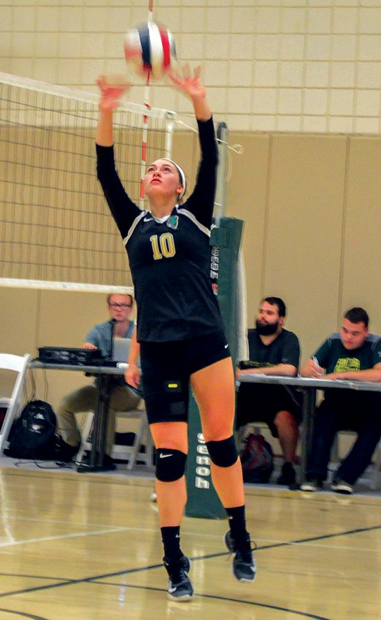 Lone sophomore sets example volleyball team