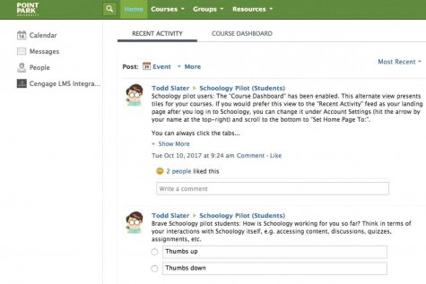 University gradually transitions to Schoology
