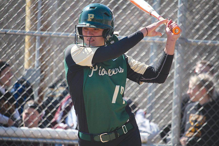 Junior infielder Brittany Zeigler at bat during a game last season.