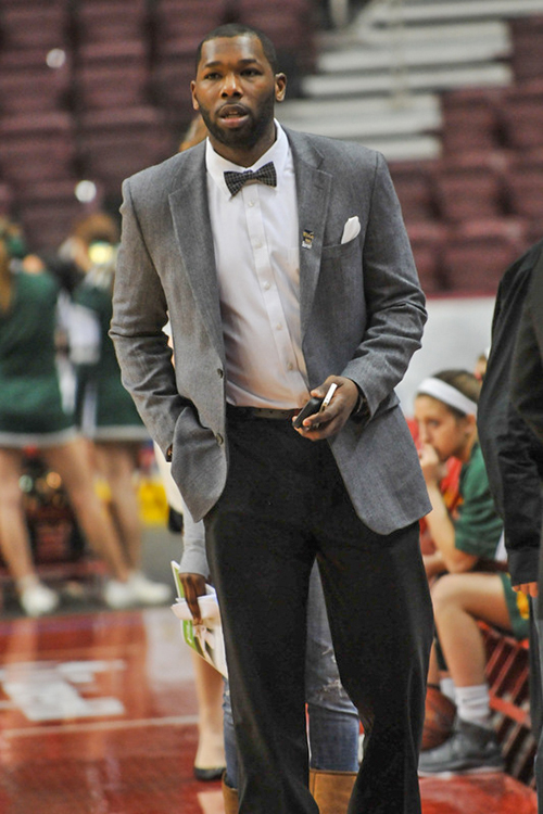 Point Park's new Director of Athletics, John Ashaolu, pictured during his coaching days. Ashaolu brings both coaching and administrative experience.