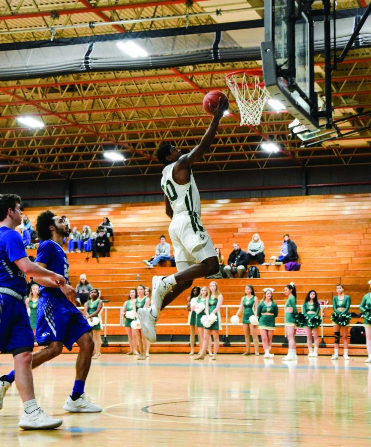 Senior guard Daniel King makes a layup last weekend against Alice Lloyd Saturday. King put up 18 points in the 81-73 victory.