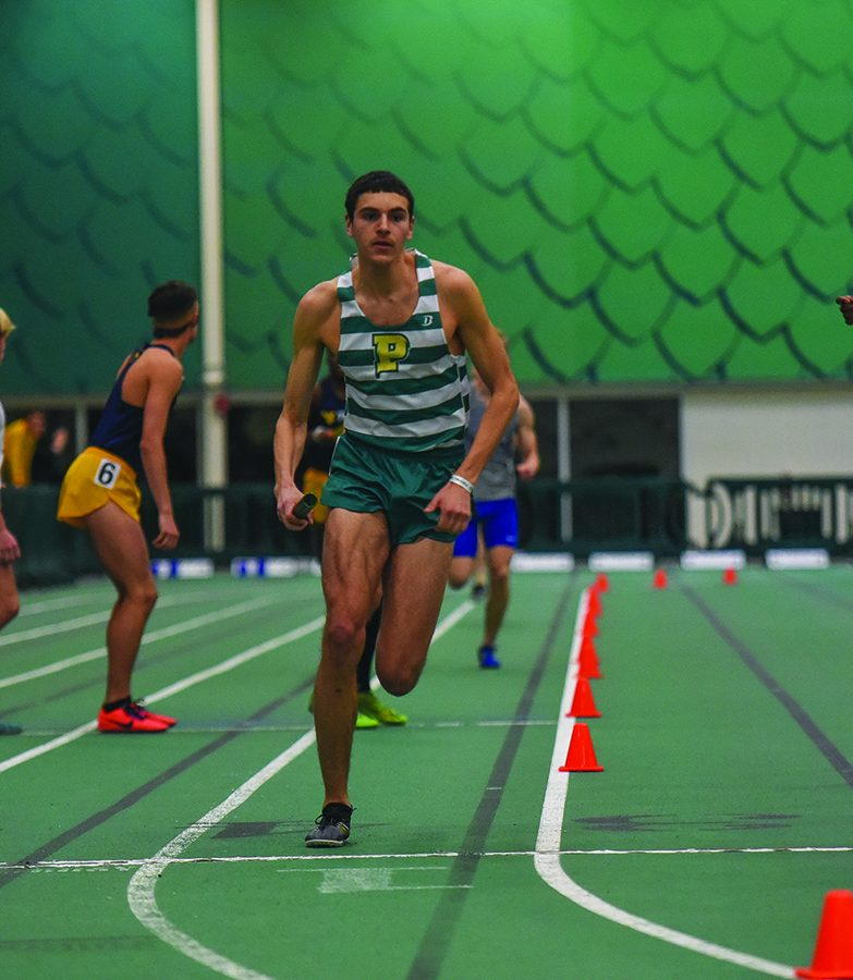 Junior Xavier Stephens competes in the RSC Conference Championship meet earlier this season. Stephens competed in the Kent State Tune Up last weekend and missed the Nationals qualifying time in the 800 meter dash by .05 seconds..