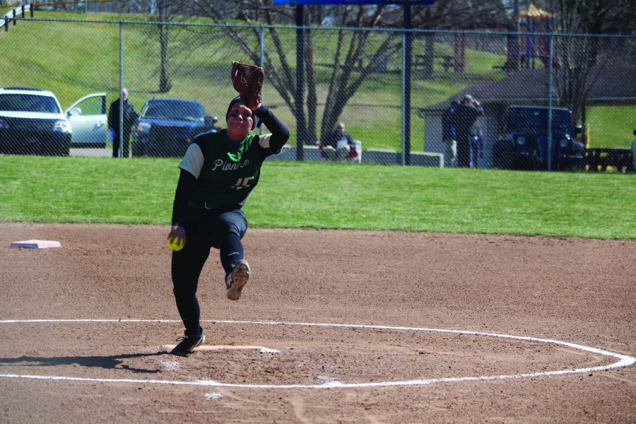 Senior pitcher Ashley Iagnemma took a one-hitter through the fifth inning against Siena Heights Saturday. Point Park however couldn't hold on after allowing one run in both the sixth and seventh innings.
