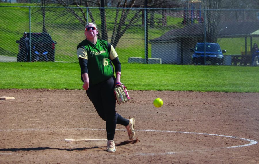Junior Katie Tarr picked up two wins while setting a career-high 17 strikeouts against Asbury last weekend.