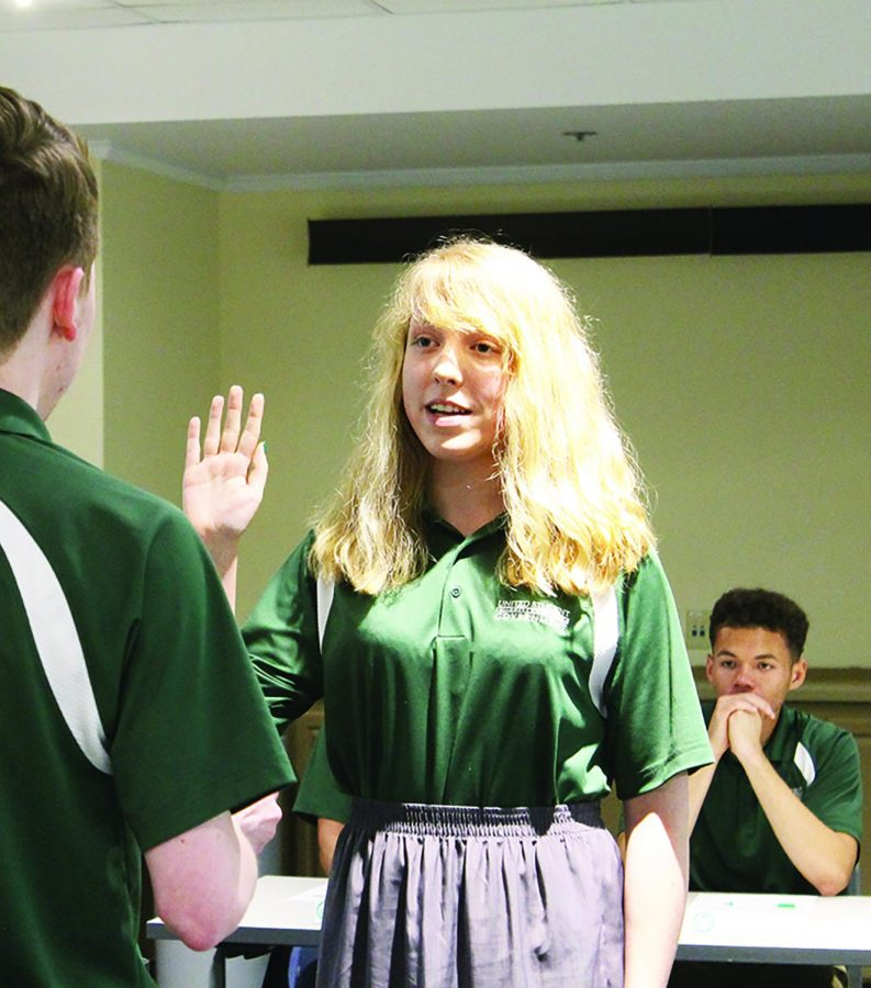 Alexa Lake was sworn in as Vice President at the last USG meeting of the Spring 2019 semester.