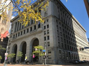 Pittsburgh Mayor Bill Peduto's office is in the City County Building located on Grant Street.