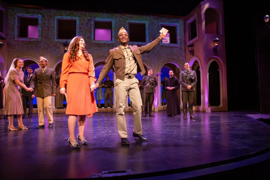 Morgan Snowden as Beatrice (left) and Evans Malkin as Benedick (right) performing at the Playhouse in 'Much Ado About Nothing.' The play took place last weekend and will have another showing this weekend.
