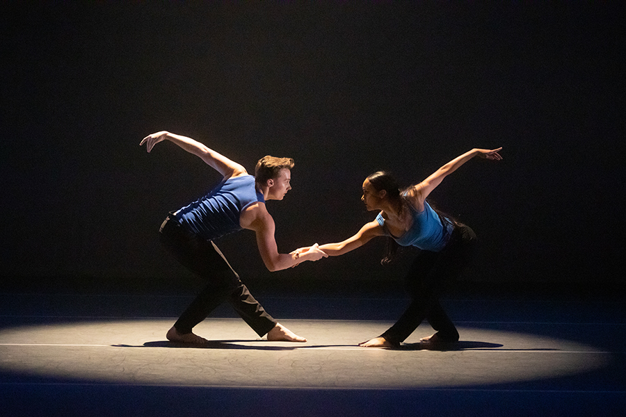 """Bailey Eland and Shalece Heugas in """"The Paradigm of Us"""" choreographed by Sydney Jones."""