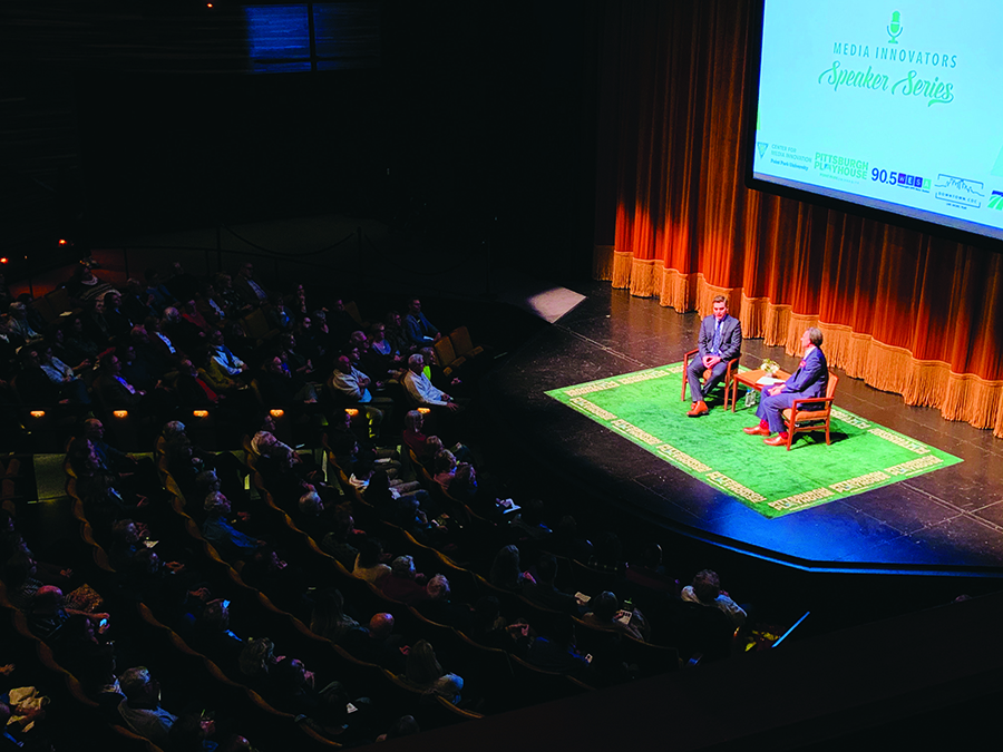 Chief White House Correspondent for CNN Jim Acosta spoke at the Pittsburgh Playhouse on Feb. 6 as the third speaker in the Media Innovations Speaker Series