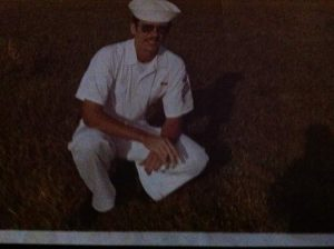 Petty Officer Donald Nemchick in uniform. Nemchick served in the U.S. Navy from 1970 to 1974.