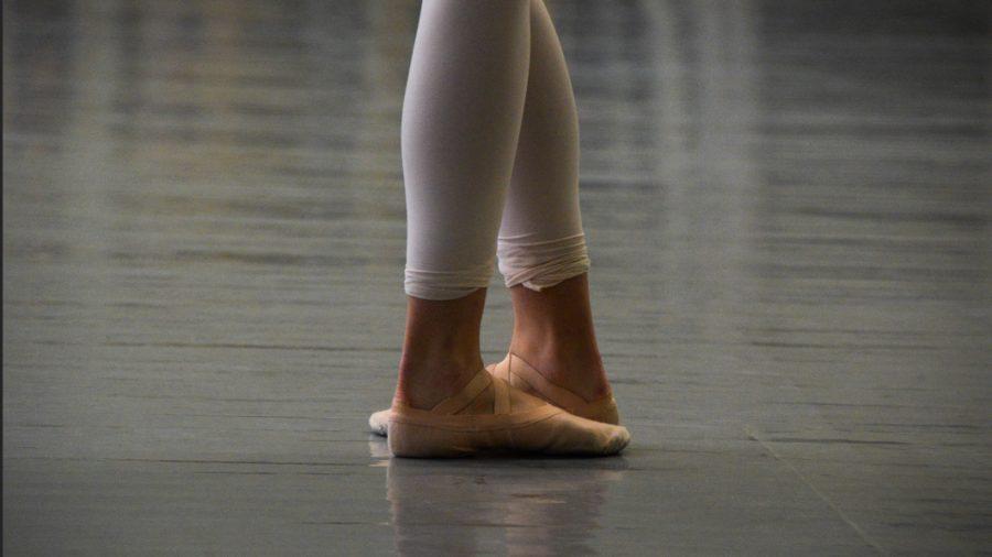 A dancer at studios on Point Park's campus poses. (Photo Credit: Rachel Nash)