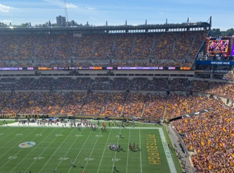 The Pittsburgh Steelers in their home game against the Denver Broncos at Heinz Field on Sunday, Oct. 10.
